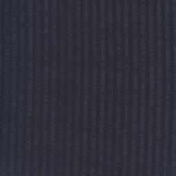 Ribstrikket viskose jersey i støvet mørkeblå-20