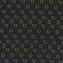 rest Viskose jersey med blomster gul rød marine, 15 cm.-20