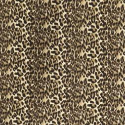Rest Viskose jersey med dyreprint beige off-white sort 50 cm.-20