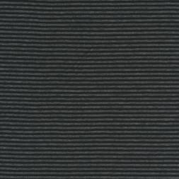 Rest Viskose jersey smal stribet i sort og koksgrå 50 cm.-20