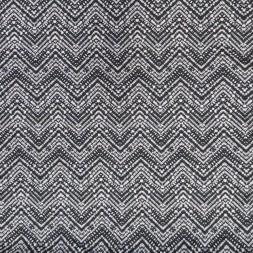 Afklip Viscose/lycra med zig-zag mønster i koksgrå og hvid 100 cm.-20