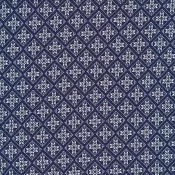 Rest Jersey i Viscose/lycra blå med rudemønster, 28-45 cm.-20