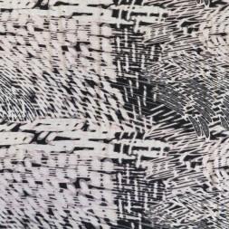 Jersey i Viscose/lycra mønstret i hvid sort babylyserød og grå-20