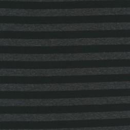 Afklip Viscose/lycra stribet i koksgrå og sort 100 cm.-20