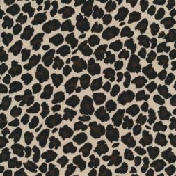 Viscose jersey med dyreprint i creme, sort og brun-20