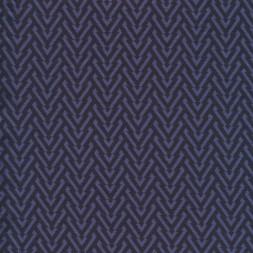 Viscose jersey i mørkeblå og denim med V-mønster-20