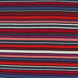 Viskose jersey med striber i rød, blå sort rosa-20