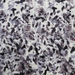 Rest Viscose jersey i hvid grå-lyng grå-lilla 80-100 cm.-20