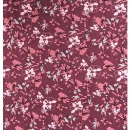 Viscose jersey blomstret i mørk lyng, gl.rosa, grå-20