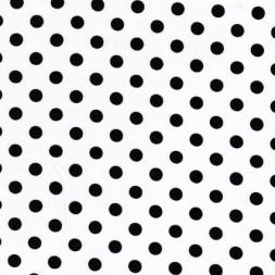 Bomuld/lycra økotex m/prikker, hvid/sort-20