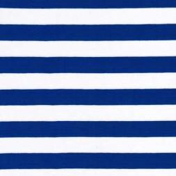 Stribet øko-viscose/lycra, koboltblå/hvid, 18 mm.-20