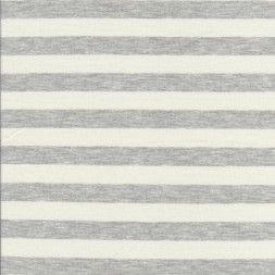 Rest Viskose jersey stribet knækket hvid og lysegrå meleret 65 cm.-20