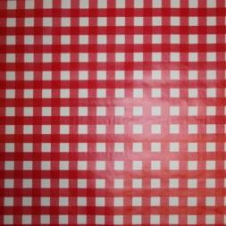 Rest Voksdug i køkkentern, hvid/rød 80 cm.-20