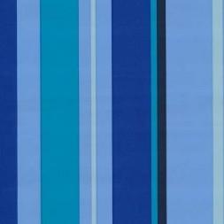 Rest Voksdug stribet lyseblå/blå/turkis 75 cm.-20