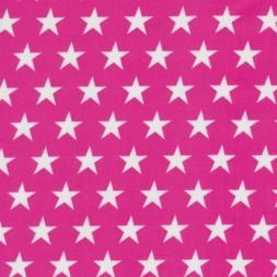 Coated bomuld/voksdug m/stjerner, pink/hvid-20