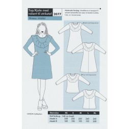 44092c5e8fac Onion 2077-Top kjole med volant til strikstof-20