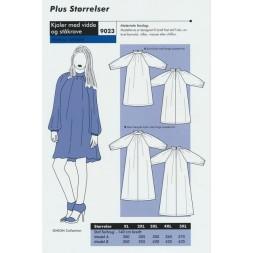 Onion 9023 Plus-kjole med vidde og ståkrave-20