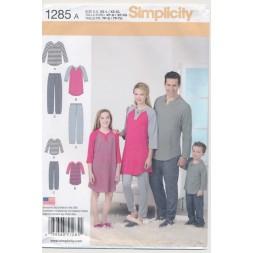 Simplicity 1285 Nattøj/pyjamas herre/dame/børn-20
