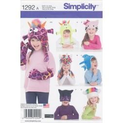 Simplicity 1292 Sjove huer m/dyr-20
