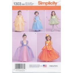 Simplicity 1303 Pige prinsesse-kjole-20