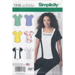 Simplicity 1316 Bluse-20