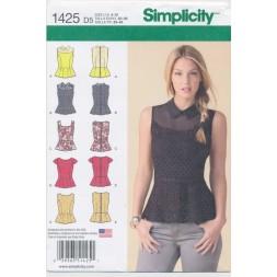 Simplicity 1425 Bluse/Top m/skød-20