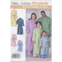 Simplicity 1562 Morgenkåbe børn og voksne-20