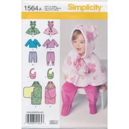 Simplicity 1564 Baby slag/bukser/bluse-20