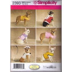 Simplicity 2393 Tøj til små hunde, vest-20