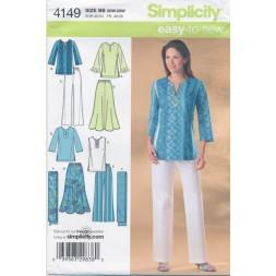 Simplicity 4149 Tunika/bukser/nederdel-20