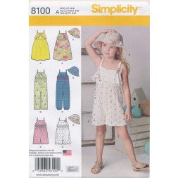 Simplicity 8100 pige strop-kjole/buksedragt/bøllehat-20