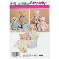 Simplicity 8155 Bamse og tøj 54 cm.-20