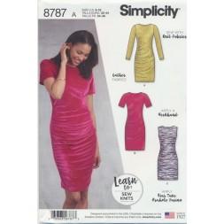 Simplicity 8787 kjole med drapering-20