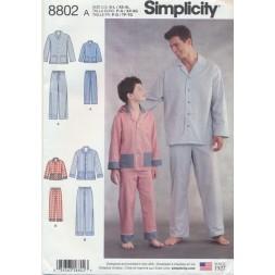 Simplicity 8802 Pyjamas til herre og dreng-20