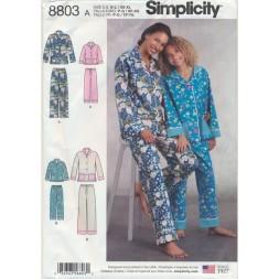 Simplicity 8803 Pyjamas til dame og pige-20