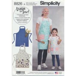 Simplicity 8826 Forklæde til barn og voksen-20