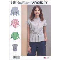 Simplicity 8840 Bluse med detaljer til fast stof-20