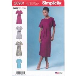 Simplicity 8981 Enkel Kjole til fast stof | Easy-to-sew-20