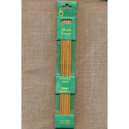 Pony strømpepinde i lys bambus str.4-20