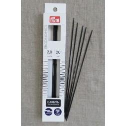 Prym strømpepinde ergonomiske i Carbon str. 2-20