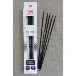 Prym strømpepinde ergonomiske i Carbon str. 3-20