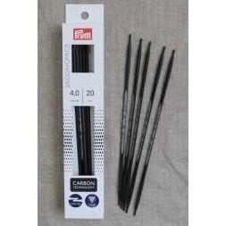 Prym strømpepinde ergonomiske i Carbon str. 4-20