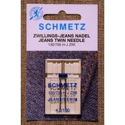 Symaskine Tvillingenål jeans, 4 mm.-20