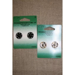 Tryklåse 18 mm. sort og sølv-20