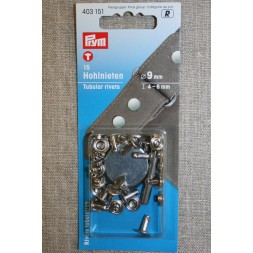 Pyntenitter 9 mm. sølv-20
