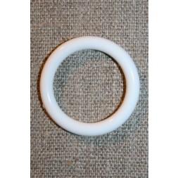 Plastring Gardin ring hvid 25/34 mm.-20