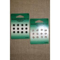 Tryklåse 7 mm. sort og sølv-20
