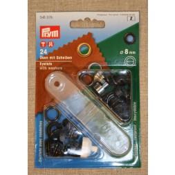 Prym Snøreringe 8 mm. oxyderet-20