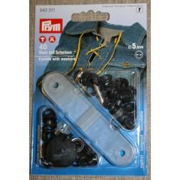 Prym Snøreringe 5 mm. oxyderet-20