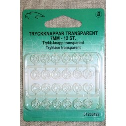 Tryklåse transparent 7 mm.-20